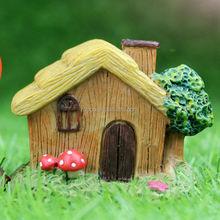 Zakka resin crafts Fairy straw miniature house decoration