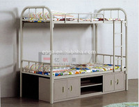 Indian Dormitory Furniture Wood Double Bed Labor Workers Bed
