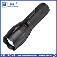 S12 ningbo manufacture rechargeable flashlight blue point