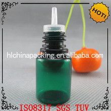 GREAT 5ml green plastic eye dropper bottle PET