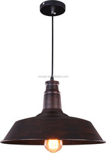 2015 most popular retro style rush brown color large vintage pendant lamp