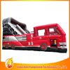 Hot Sale Cheap inflatable fire truck slide