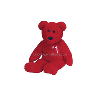Lovely pure red bear plush toy cute stuffed plush bear teddy alibaba china