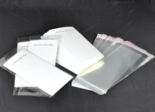 "White Earring Display Cards(with ""Fashion Jewelry"" print) W/ Self Adhesive Seal Plastic Bags 19.5x9cm,50pcs,Hottest"