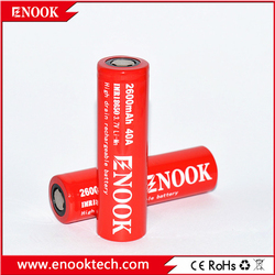 Super AA AAA!!18650 3.7V Rechargeable Battery 40a High Discharge 3.7V 2600 mAh enook