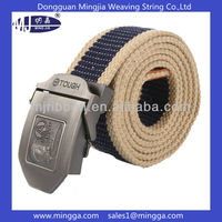 customized military mens cotton canvas belt