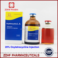 5% 10% 20% Oxytetracycline HCL Injection For Poultry / Veterinary Medicine Injection