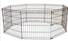 36 inchBlack Tall Dog Playpen Crate Fence Pet Kennel Play Pen Exercise Cage 8 Panel