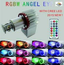 NEW H8RGBW Angel Eye 54x3w rgbw led par 64 for bmw e36