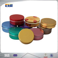 Cosmetic container aluminum small round tin boxes