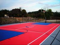 Readygo portable outdoor basketball court/interlocking pvc garage floor tiles