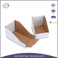 Wholesale Wax Coated Small Folding Paper Counter Cardboard Display Boxes