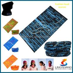 LINGSHANG Magic Custom Headwear Tube Seamless Bandana multifunctional dust mask bandana