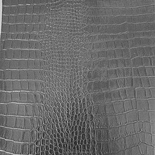 Black PVC crocodile leather / bag leather / handbag leather CW153