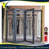 CHINA factory l Australian standards Aluminum frameless soundproof bi-fold door WITH retractable door screens