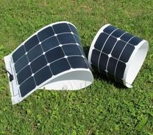 150w Mono sun power flexible solar panel for yacht boat RV boat pv module