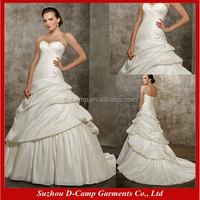 WD-388 Strapless pick up skirt ball gown sexy muslim wedding dress 2012