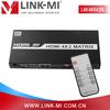 LINK-MI LM-MX42 3D TV IR 1080P HD Video HDMI 4*2 HDMI Matrix Support Audio
