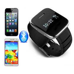 Bluetooth Genuine Leather Smart Watch For iPhone/android Phones