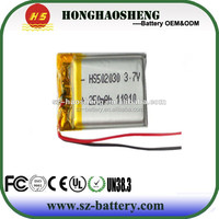 Free shipping 3.7V lithium polymer battery 052030 502030 250mah MP3 MP4 MP5 toy battery