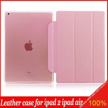 Threes Folding Leather Tablet Cover Flip Silk Print Case for iPad 6 for iPad Air 2