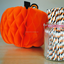 Haunted Halloween 3D Honeycomb Paper PUMPKINS Thanksgiving Decorations