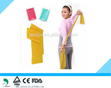 Colorful elastic training band, exercise yoga band
