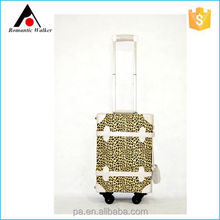 Wholesale classical style leopard print graphics sexy PU travel luggage