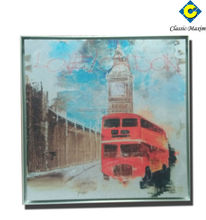 China wholesale high quality bus stop oil Metal Art Work