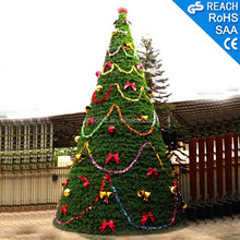 Mall & Square Outdoor Christmas PVC Artificial Plants LED Light Holiday Decoration