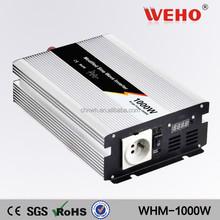 Adjustable voltage 1000w 12v to 220v pure sine wave solar energy system power inverter for solar