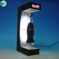Customized Top magnetic levitation advertising fancy acrylic football boot display case