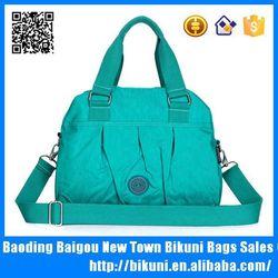 Trendy nylon tote bag long strap shoulder messenger bag for women