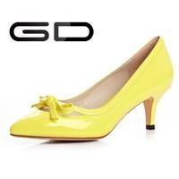 Latest low heels 2015 new design market thin heel ladies shoes
