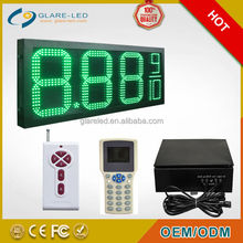 digital gas price sign with scrolling message