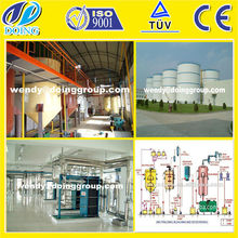 qualified complete set 50tons per day semi-continous crude oil refinery plant equipments
