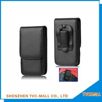 Black Leather Holster mobile pouch,top quality cell phone pouch from alibaba
