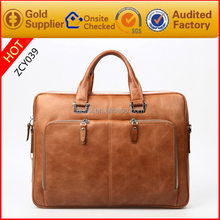 2015 new arrive 15.6 inch men's business genuine leather laptop bag wholesale