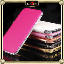 2015 New Arrival High Quality Flip Leather Case for iphone 6, Luxury Bling Flip Leather case, for iphone 6 Flip Stand Case