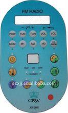 Embossed FM Radio Graphic Overlay Membrane Keypad Switch