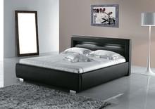 Modern European Elegant Black Leather Price Of Bed Designs
