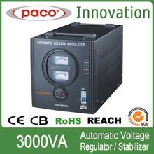 3Kva Regulado de Fuente de Voltaje Constante Automático/ 3000 Vatios 220V Guardia Estabilizador de Voltaje Con