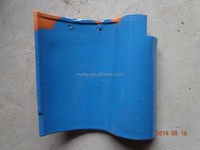 Glazed blue Spanish clay roof tile