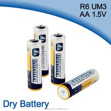 277 mAh Capacity Um3 R6 aa size 1.5v battery