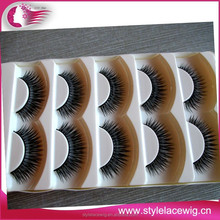 Free samples custom private label human hair cheap sale colorful false eyelashes
