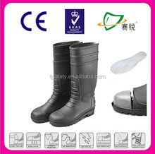 CE certificate rubber safety boot,fashion rain boots