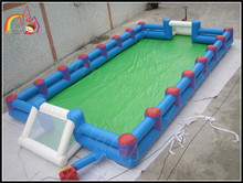 6x12 meters enclosed inflatable football field for adults n children / soccer play arena