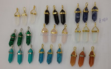 8x30mm pencil head pendant with silver or gold bail
