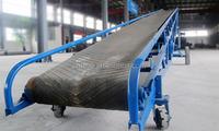 Mobile grain conveyor belt for food industry