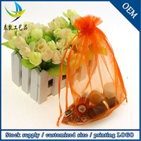 Wholesale High Quality 13x18cm Orange Wedding Satin Organza Bags For Party Favors